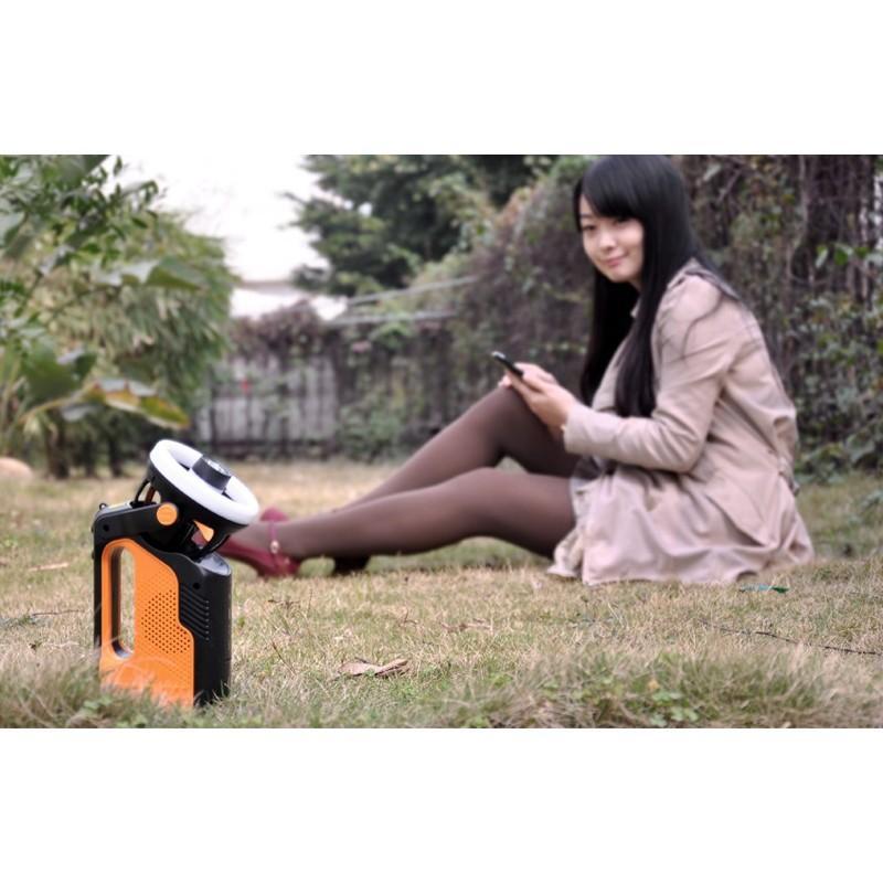Многофункциональный походный светодиодный фонарь LT169 с FM-радио, вентилятором, MP3 плеером, подзарядкой для мобильного