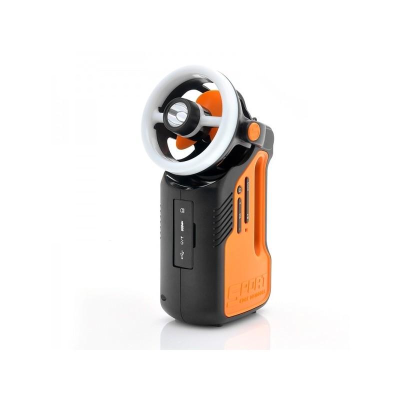 Многофункциональный походный светодиодный фонарь LT169 с FM-радио, вентилятором, MP3 плеером, подзарядкой для мобильного 186979