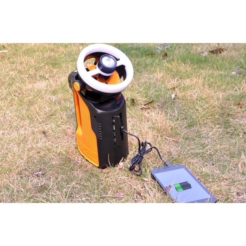 Многофункциональный походный светодиодный фонарь LT169 с FM-радио, вентилятором, MP3 плеером, подзарядкой для мобильного 186981