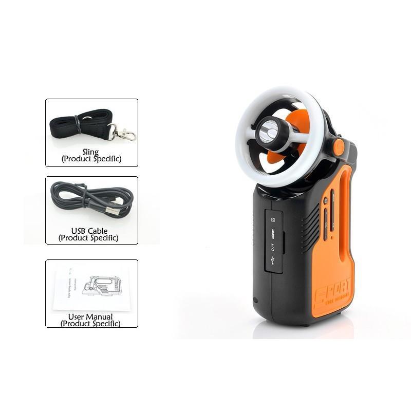 Многофункциональный походный светодиодный фонарь LT169 с FM-радио, вентилятором, MP3 плеером, подзарядкой для мобильного 186982