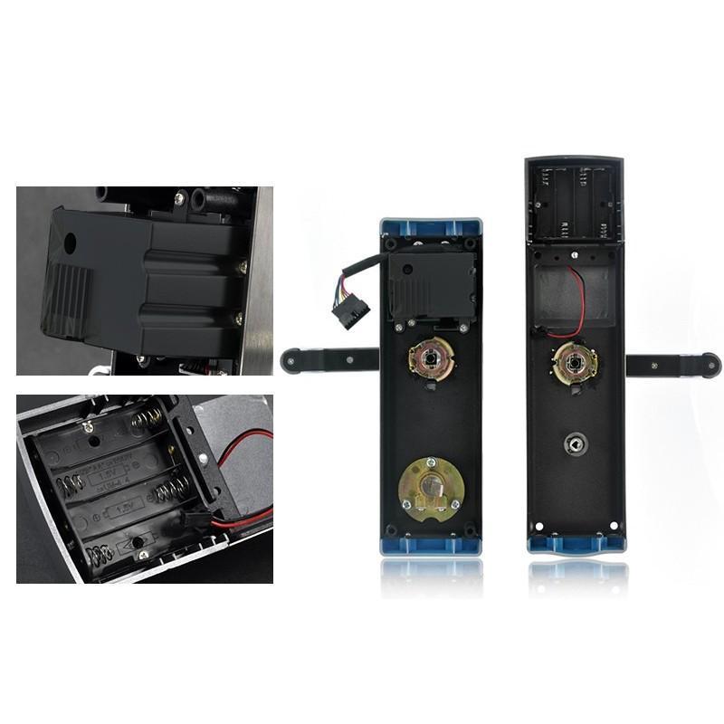 Сверхмощный дверной биометрический замок, открывающийся по отпечатку пальца, ключом или при помощи кода 187052