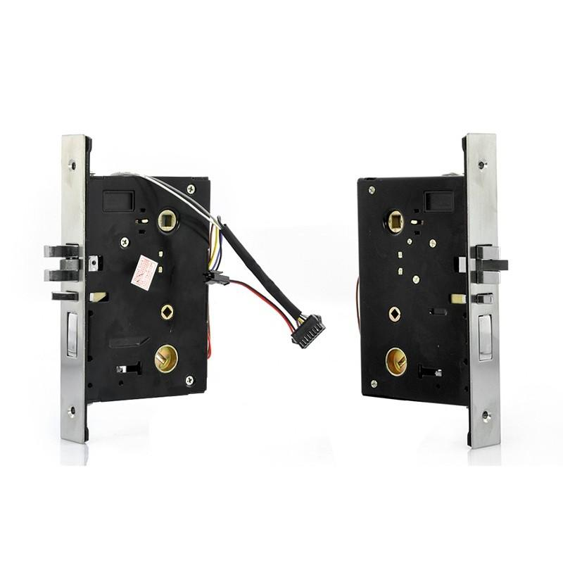 Сверхмощный дверной биометрический замок, открывающийся по отпечатку пальца, ключом или при помощи кода 187053