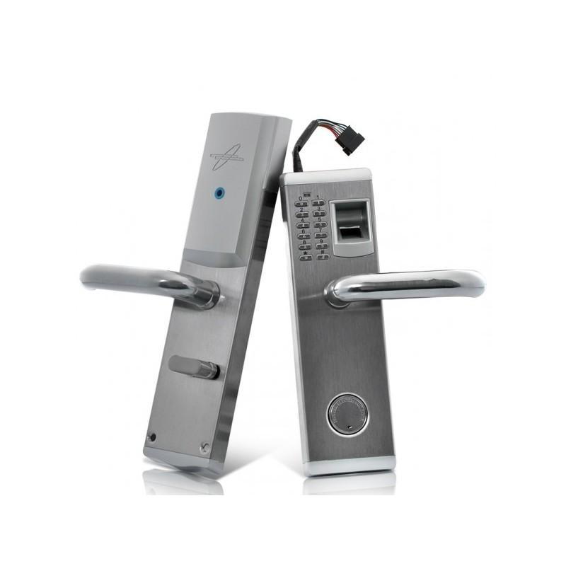 Сверхмощный дверной биометрический замок, открывающийся по отпечатку пальца, ключом или при помощи кода