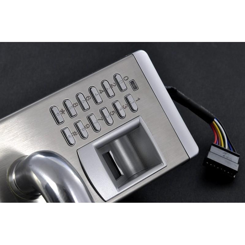 Сверхмощный дверной биометрический замок, открывающийся по отпечатку пальца, ключом или при помощи кода 187054