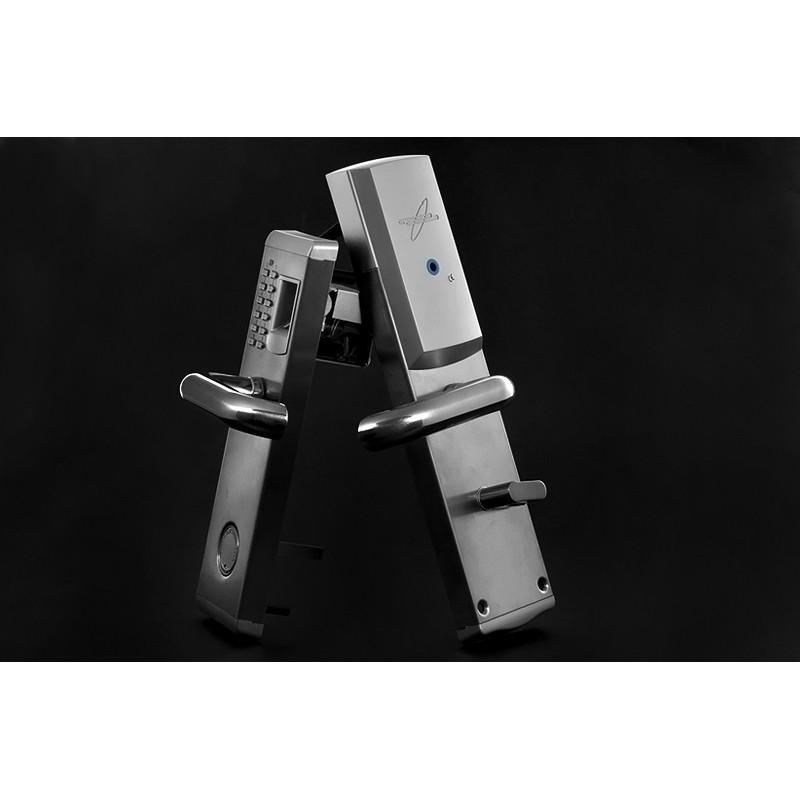 Сверхмощный дверной биометрический замок, открывающийся по отпечатку пальца, ключом или при помощи кода 187057