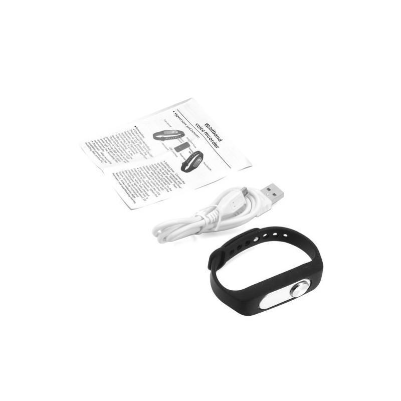 Цифровой диктофон браслет WR-06 (8GB, 140 часов записи, 128Kbps, 21 г, 6 цветов на выбор) 187192