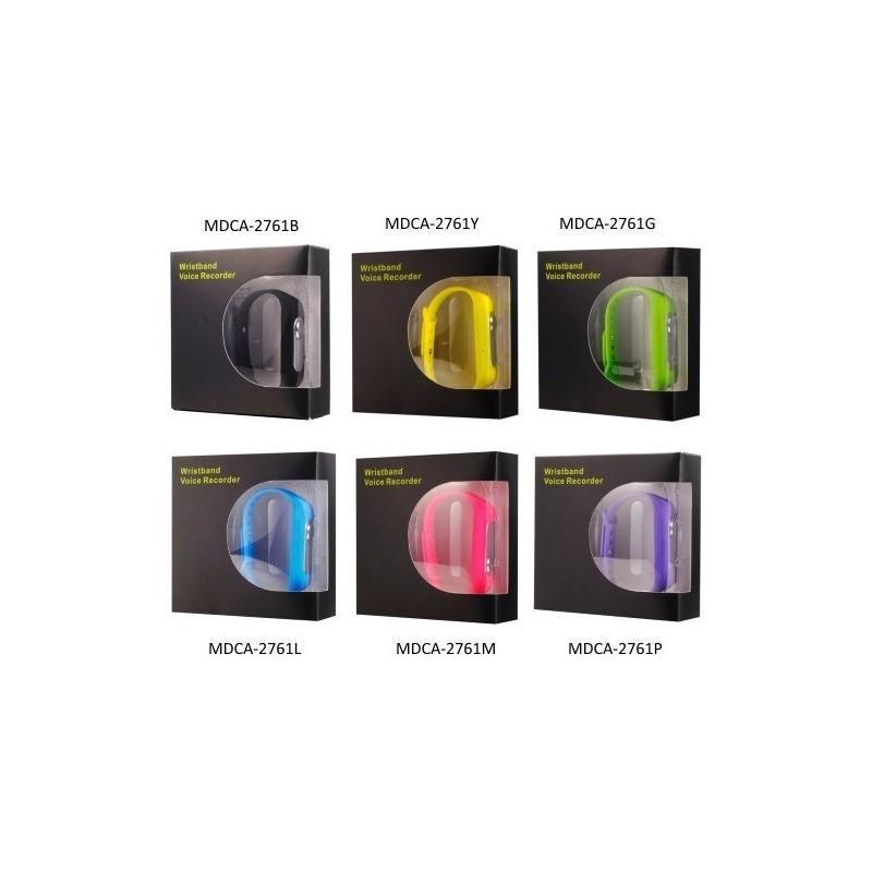 Цифровой диктофон браслет WR-06 (8GB, 140 часов записи, 128Kbps, 21 г, 6 цветов на выбор) 187197