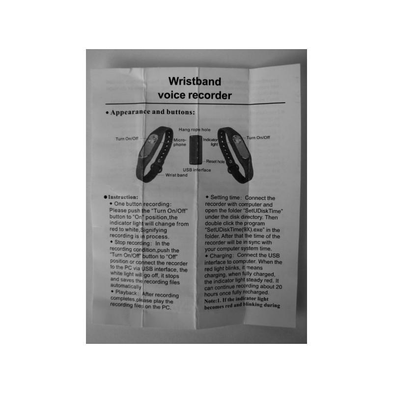 Цифровой диктофон браслет WR-06 (8GB, 140 часов записи, 128Kbps, 21 г, 6 цветов на выбор) 187198