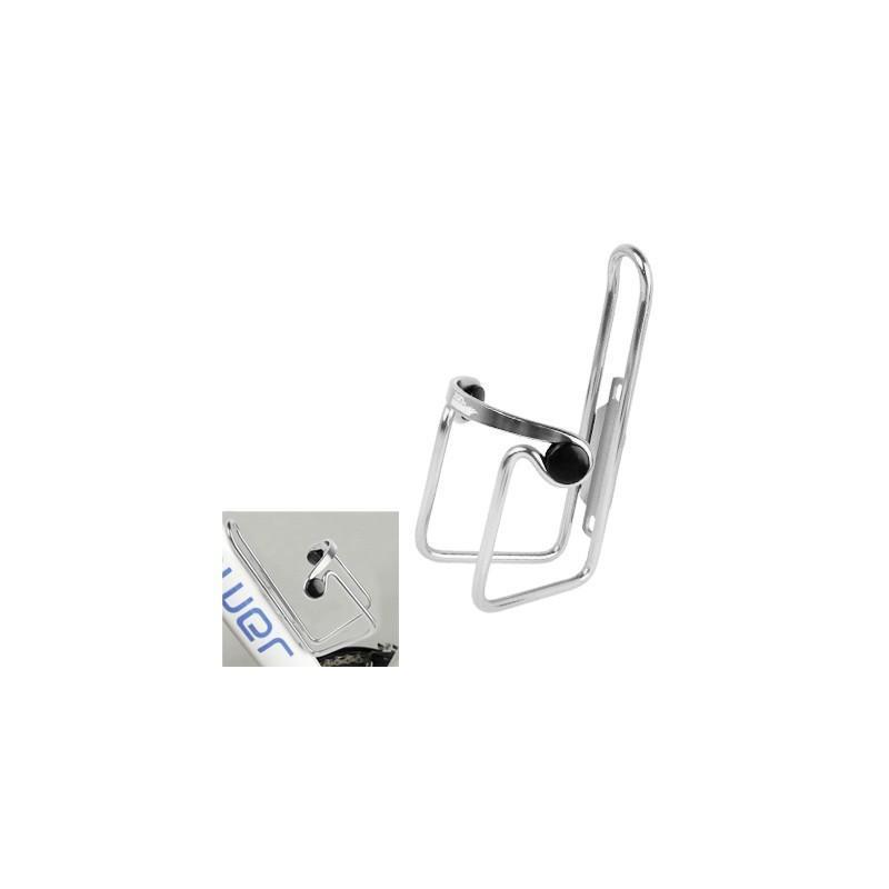 Портативный флягодержатель для велосипеда из алюминия (серебристый)