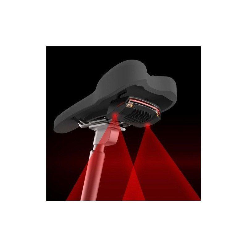 Задняя лазерная мигалка для велосипеда Meilan X5 со светодиодами и пультом управления (водонепроницаемость IPX4)