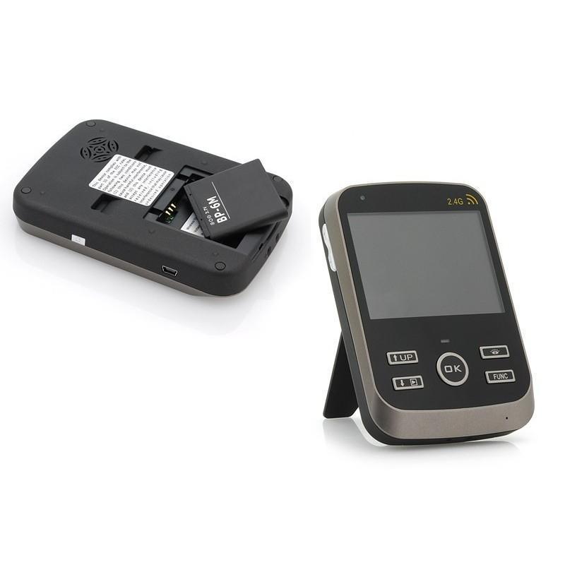 Беспроводной видеодомофон с детектором движения и ночным видением, монитор 3,5″,  камера 0.3 Мп с дверным звонком 187258