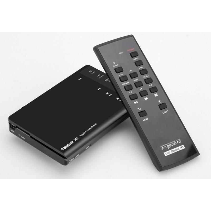 Резонансный портативный вибро динамик Ditto с дистанционным управлением (Bluetooth v3.0, 8W, 70 Гц – 20 кГц, Micro SD, мини-USB) 187298
