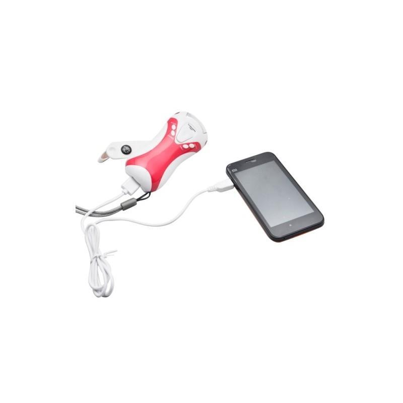 Портативный динамо-фонарь D-0053 c радио и зарядкой для мобильных устройств 187316
