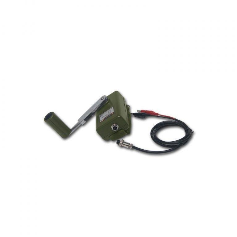 5474 - Динамо-машина SunShine DynamoJet Military - 28 В, защищенный корпус (ручная зарядка для ноутбука, раций, аккумуляторов)