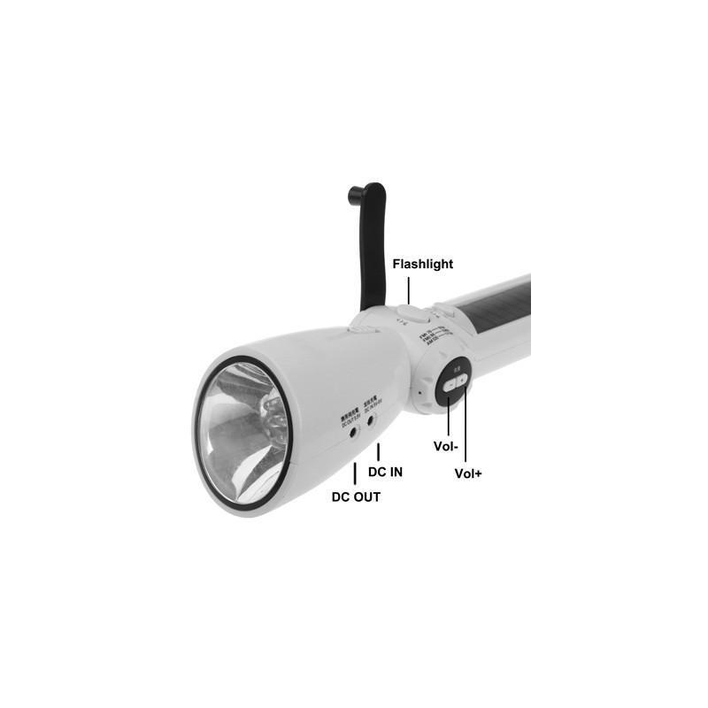 Lux-0202 – светодиодный фонарь (7 LED) + power bank: динамо-машина, солнечная панель, адаптеры для разных устройств 187590
