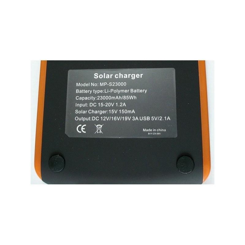 Универсальная солнечная зарядка/внешний аккумулятор 23 000 мАч SolarJet S32 ECO, 5-19В  (поддерживает ноутбуки и планшеты) 187717
