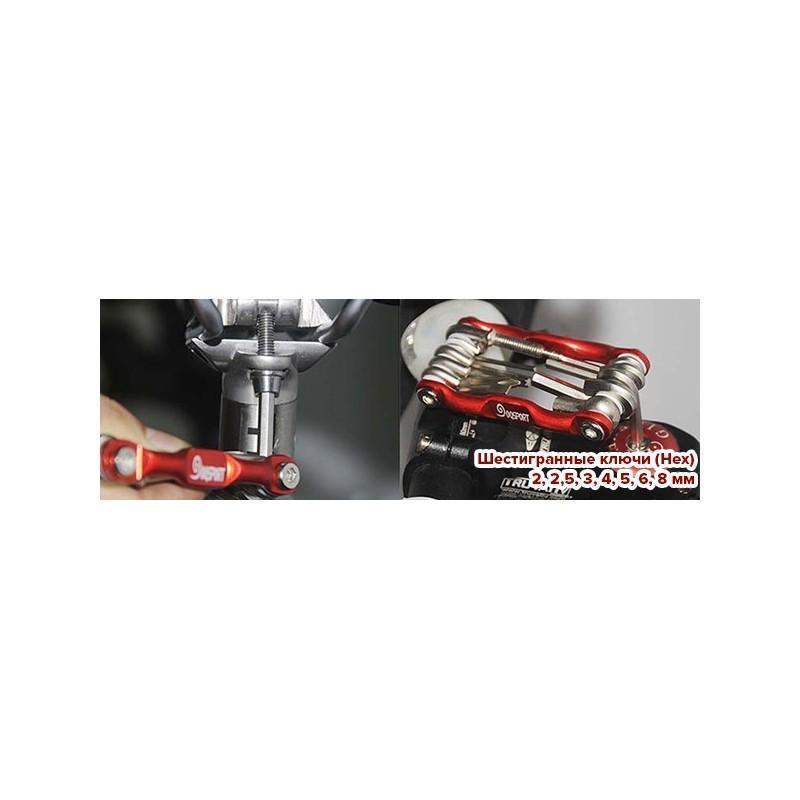 Мультитул 11 в 1 для велосипеда OG-0340 – алюминиевый сплав 187793