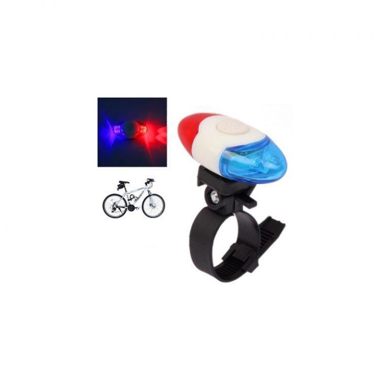 5758 - Задний велосипедный фонарь OG-0014 - 4 светодиода, красный и синий цвет