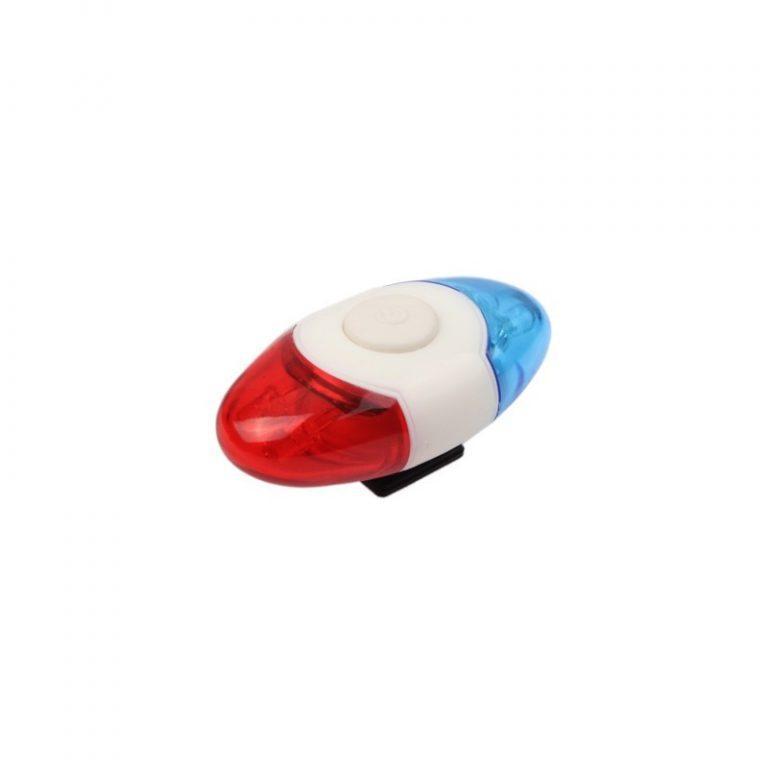 5759 - Задний велосипедный фонарь OG-0014 - 4 светодиода, красный и синий цвет