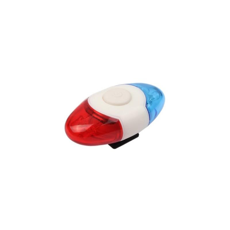 Задний велосипедный фонарь OG-0014 – 4 светодиода, красный и синий цвет 187822