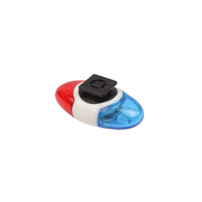 Задний велосипедный фонарь OG-0014 – 4 светодиода, красный и синий цвет 187823