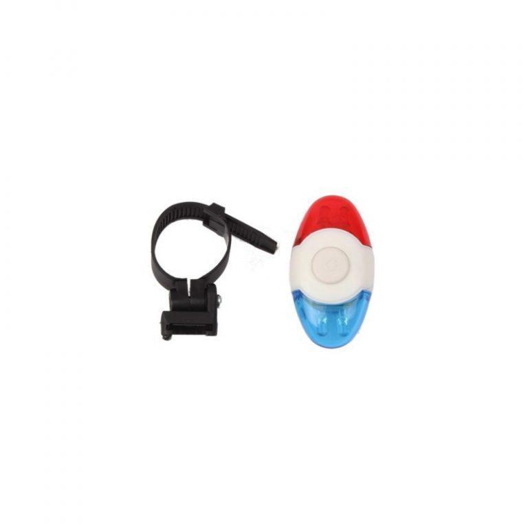 5761 - Задний велосипедный фонарь OG-0014 - 4 светодиода, красный и синий цвет