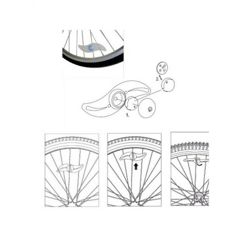 5776 - Силиконовая светодиодная подсветка для спиц колеса велосипеда OG-0065
