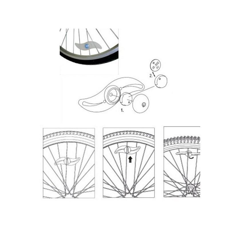 Силиконовая светодиодная подсветка для спиц колеса велосипеда OG-0065 187838
