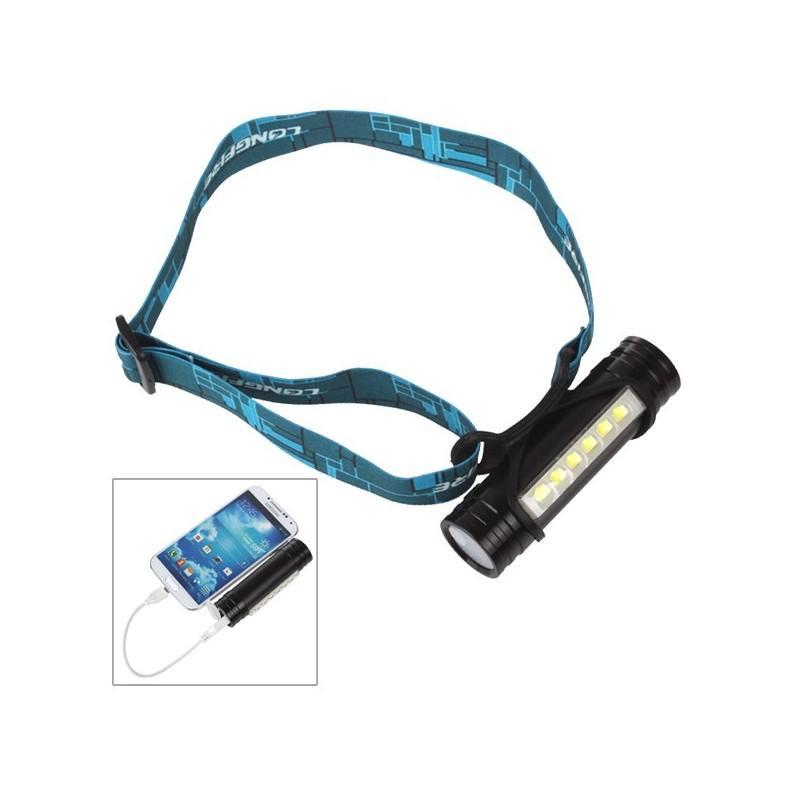"""3-в-1 фонарь-аккумулятор  """"Prometheus"""": налобный фонарь + яркий кемпинговый фонарь + внешний USB аккумулятор 188070"""