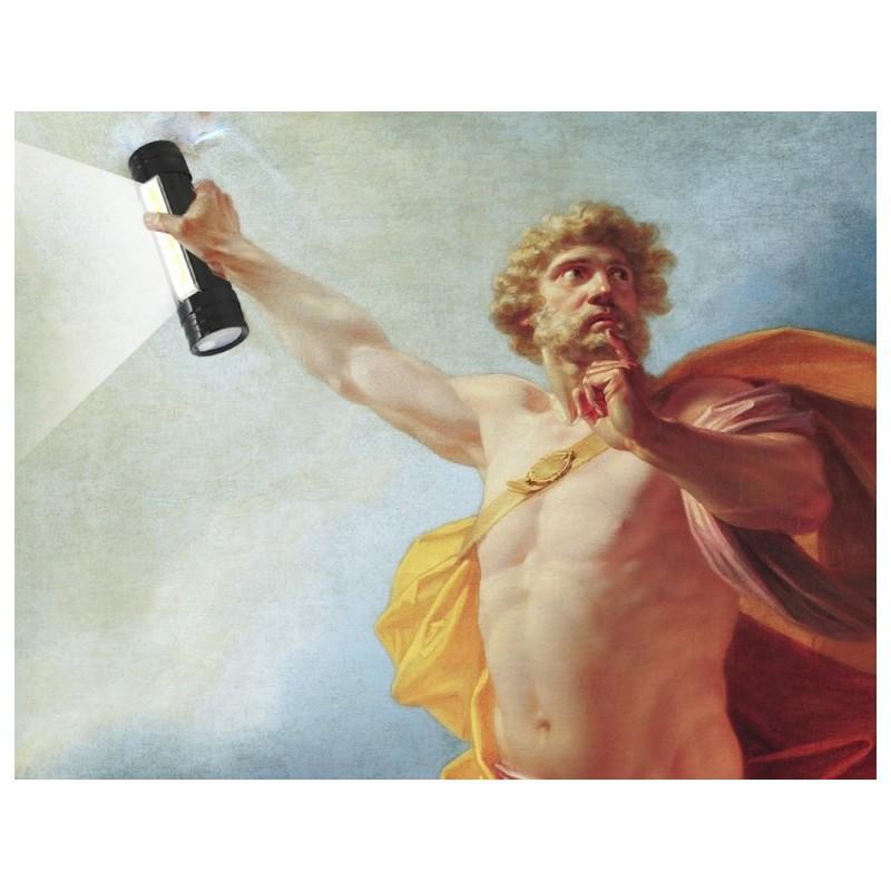 """3-в-1 фонарь-аккумулятор  """"Prometheus"""": налобный фонарь + яркий кемпинговый фонарь + внешний USB аккумулятор"""