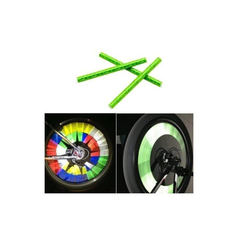 6091 - Отражатели на спицы велосипеда - 12 штук в упаковке, 5 цветов
