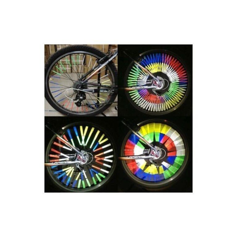 6095 - Отражатели на спицы велосипеда - 12 штук в упаковке, 5 цветов