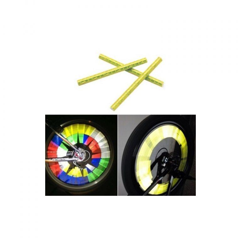 6099 - Отражатели на спицы велосипеда - 12 штук в упаковке, 5 цветов
