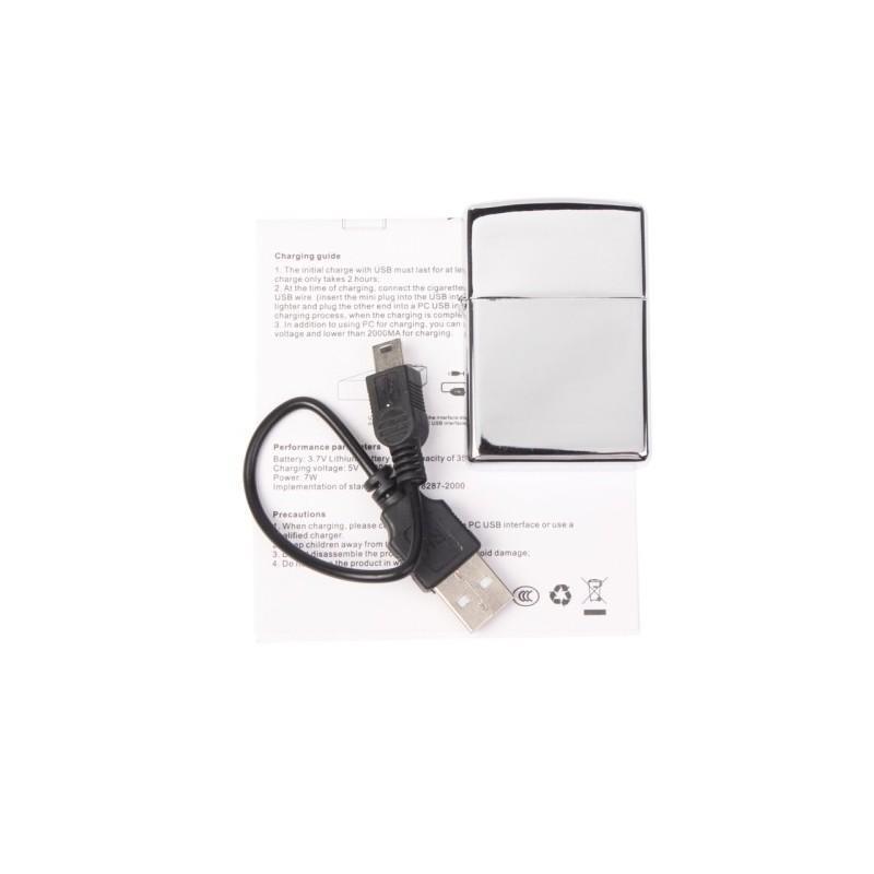 Электрическая зажигалка (без огня, зарядка по USB) 188169