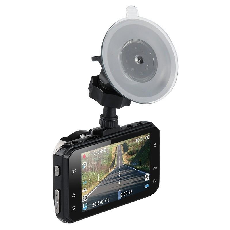 Автомобильный видеорегистратор Full View – FHD 1080p, ЖК-экран 3 дюйма, объектив 170 градусов, G-сенсор 188198