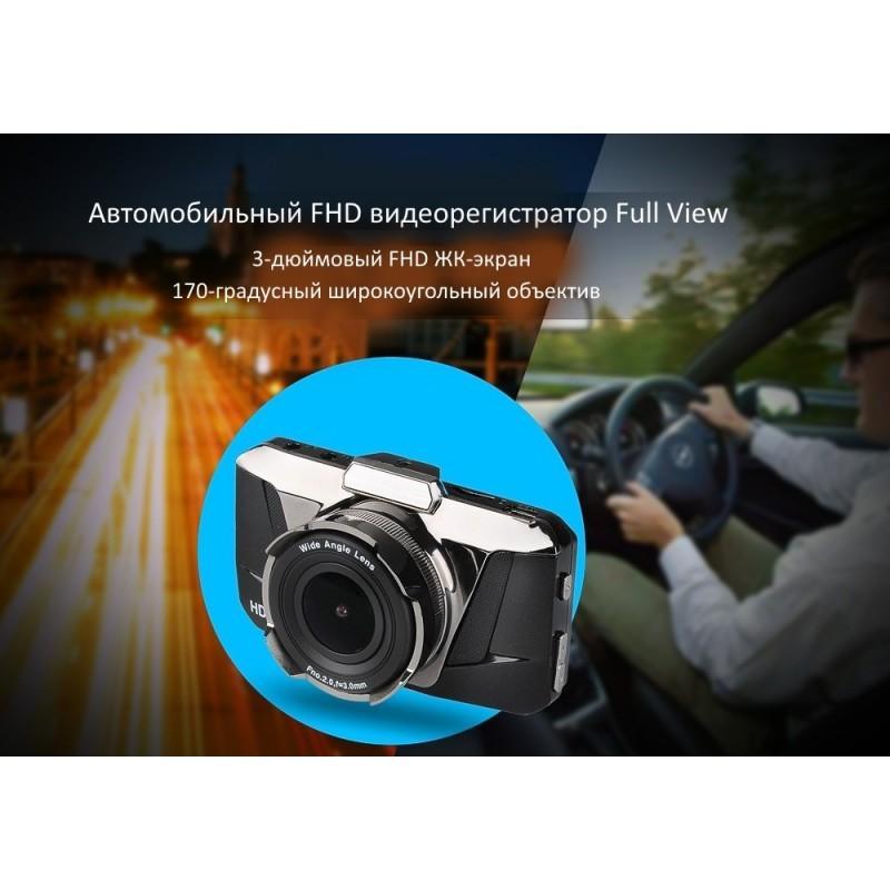 Автомобильный видеорегистратор Full View – FHD 1080p, ЖК-экран 3 дюйма, объектив 170 градусов, G-сенсор 188201