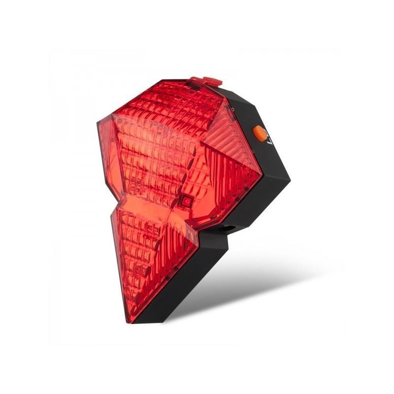 Всепогодная задняя фара для велосипеда Diamond-OG44: 2 лазера, 9 LED, 3 режима свечения