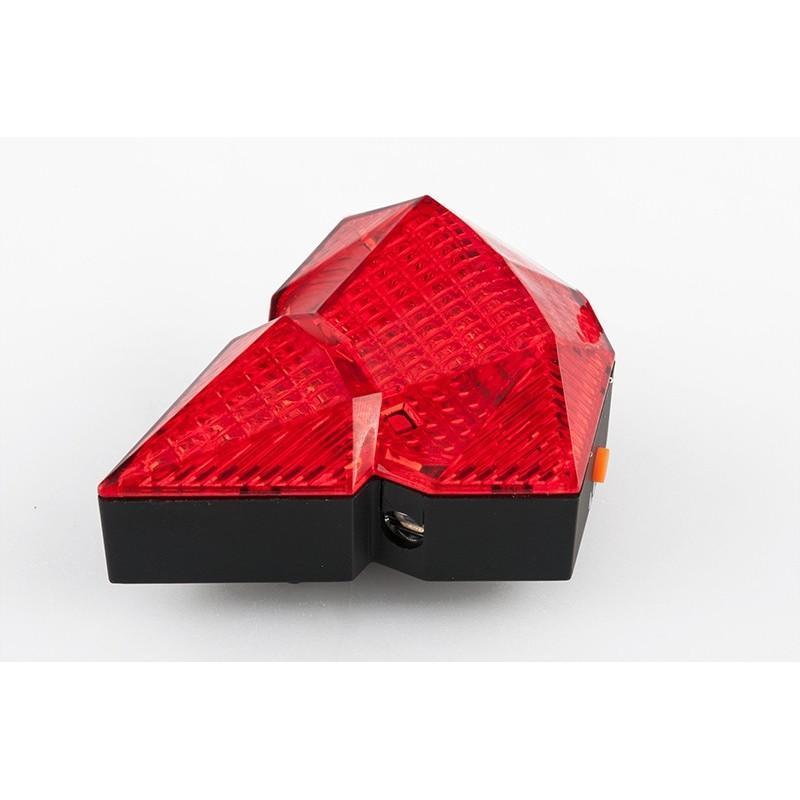 Всепогодная задняя фара для велосипеда Diamond-OG44: 2 лазера, 9 LED, 3 режима свечения 188207