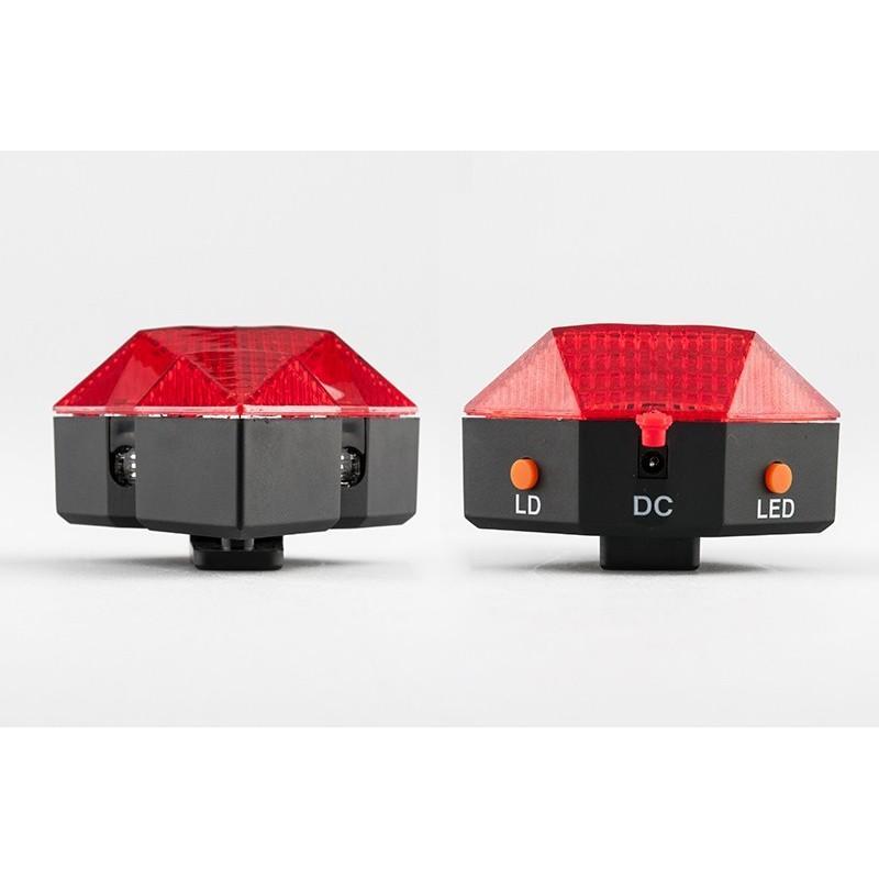 Всепогодная задняя фара для велосипеда Diamond-OG44: 2 лазера, 9 LED, 3 режима свечения 188209
