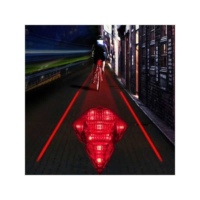 Всепогодная задняя фара для велосипеда Diamond-OG44: 2 лазера, 9 LED, 3 режима свечения 188210