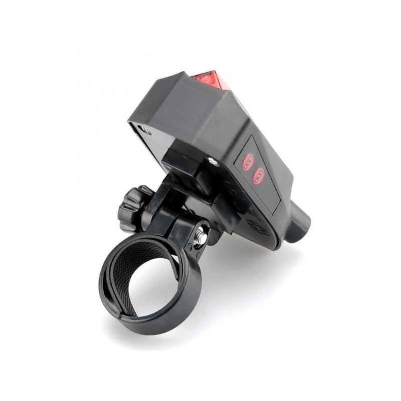 Лазерный/светодиодный задний фонарь для велосипеда LT261: 5 LED, 2 лазера, ультра-чувствительные датчики 188220