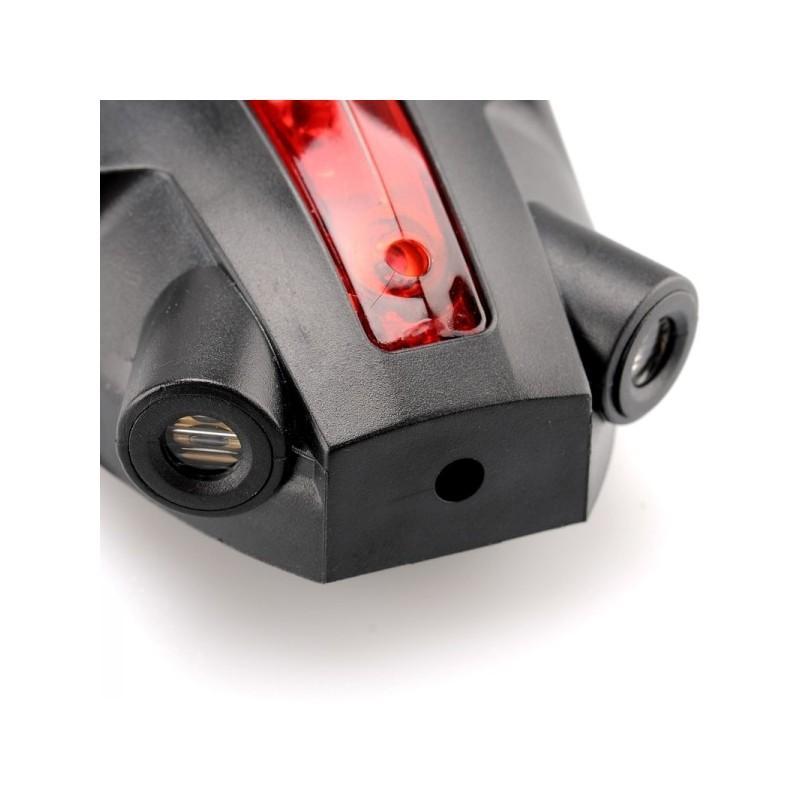 Лазерный/светодиодный задний фонарь для велосипеда LT261: 5 LED, 2 лазера, ультра-чувствительные датчики 188221