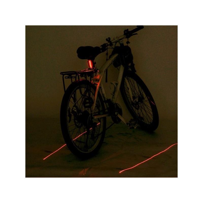 Лазерный/светодиодный задний фонарь для велосипеда LT261: 5 LED, 2 лазера, ультра-чувствительные датчики 188223