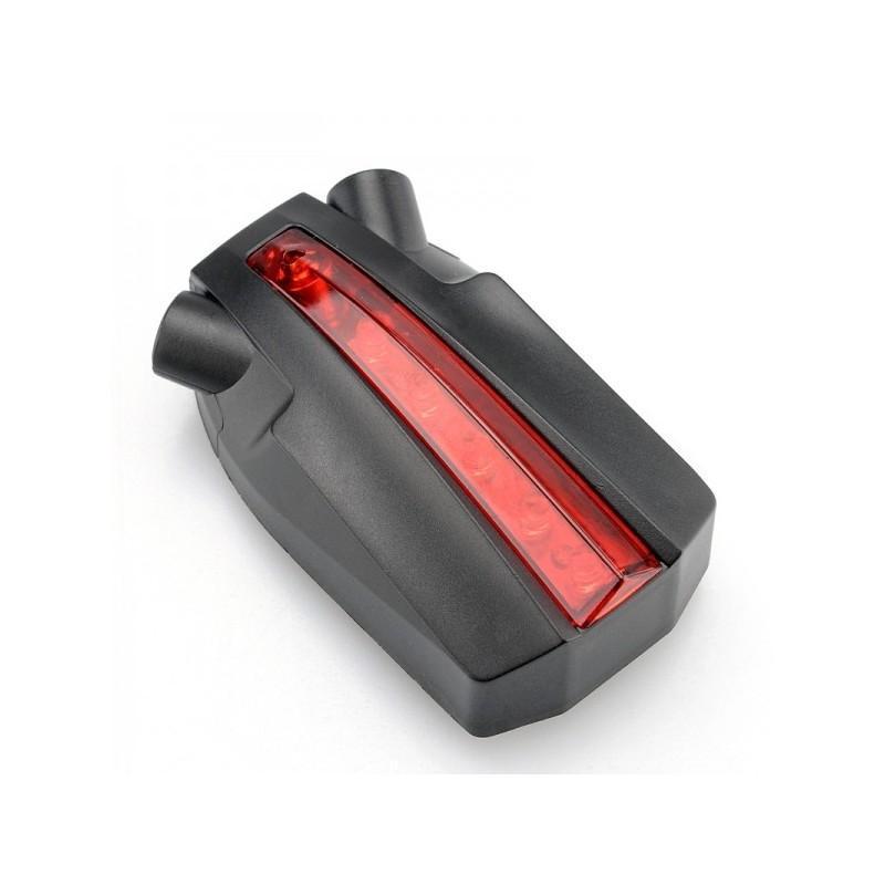 Лазерный/светодиодный задний фонарь для велосипеда LT261: 5 LED, 2 лазера, ультра-чувствительные датчики 188224