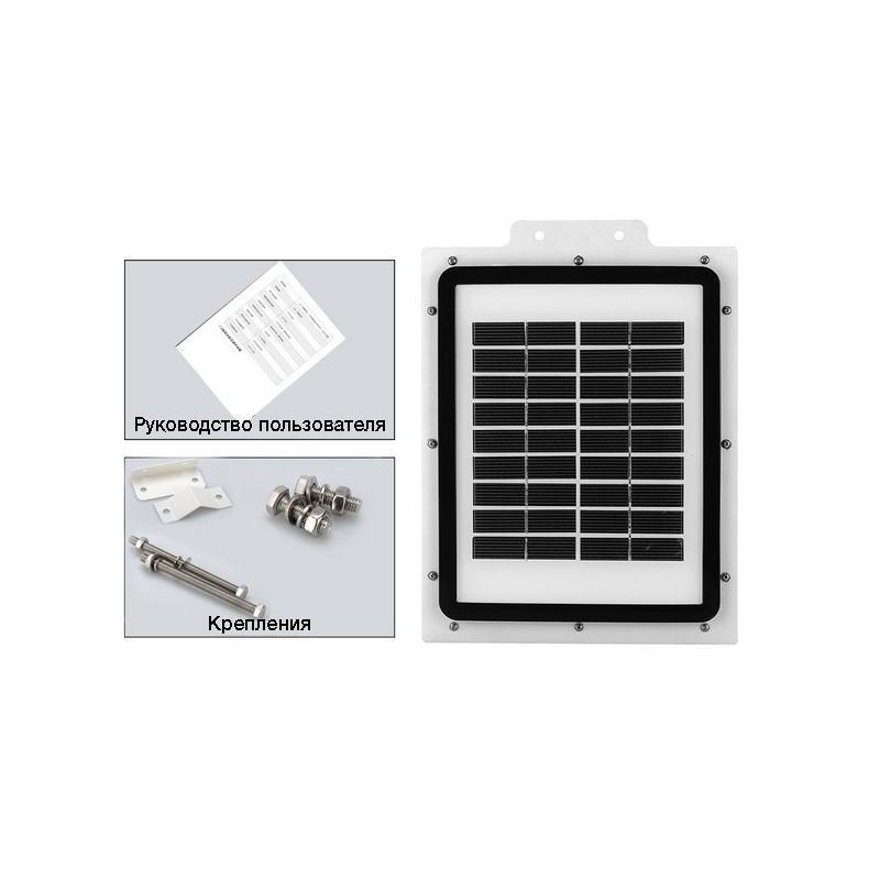 Уличный светодиодный фонарь на солнечной батарее LT256 — IP65, датчик движения, 415 люмен 188254