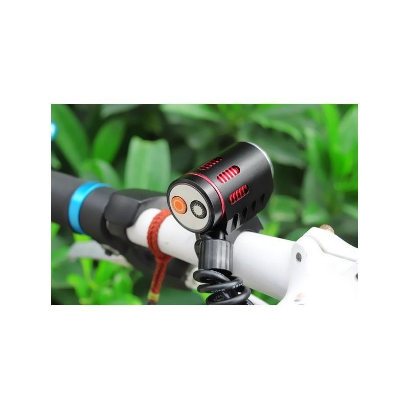 Фонарь с двумя светодиодами Cree XM-L U2 – 1200 люмен, налобный ремень, крепление для руля велосипеда, аккумулятор 4400 мАч 188297