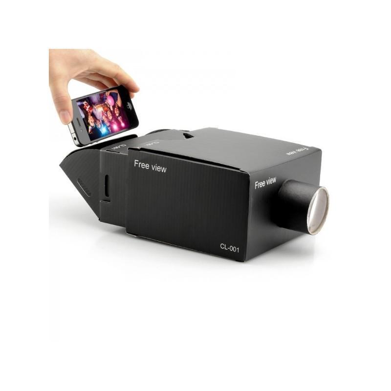 Картонный DIY-проектор E433 для смартфонов (увеличение 8х, поддержка Android и iOS) 188346