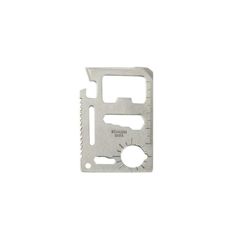 Карманный мультитул-карточка из нержавеющей стали (нож+отвертка+открывалка+линейка etc)