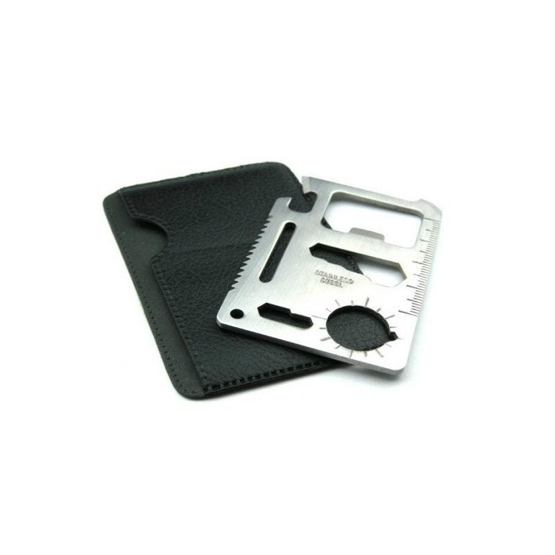 Карманный мультитул-карточка из нержавеющей стали (нож+отвертка+открывалка+линейка etc) 188356