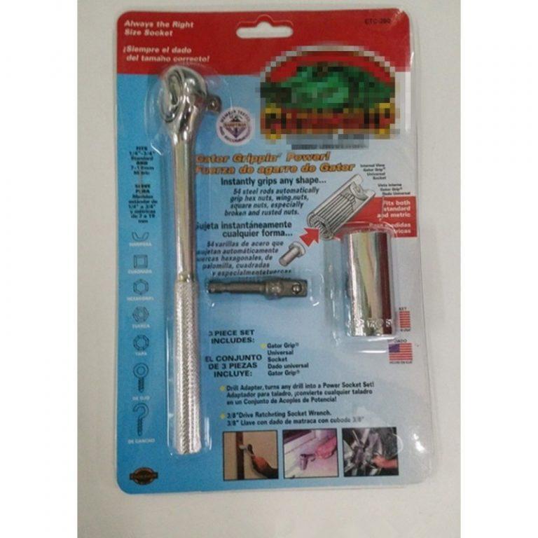 6389 - Суперключ Distordo – ключ-трещетка + насадка + переходник для дрели, захват 7-19 мм